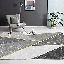 Carpets decorrom rug Black gray geometric pattern
