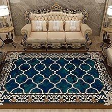 Carpets desk rug Blue brown ink style European