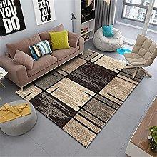 Carpets desk rug Brown beige geometric striped