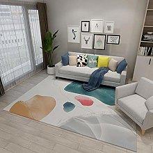 Carpets desk rug Pink blue yellow minimalist