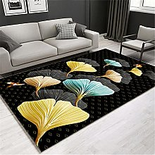 Carpets desk rug Soft and comfortable Black yellow