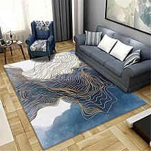 Carpets desk rug Soft and comfortable Blue yellow