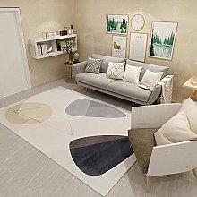 Carpets desk rug Yellow gray minimalist geometric
