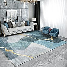 Carpets fireplace rug Blue yellow gray ink