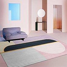 Carpets fireplace rug Pink purple gray geometric