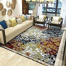 Carpets Floor Rug Gray Yellow Vintage Design