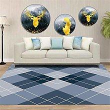 carpets for living room large Blue Crystal Velvet