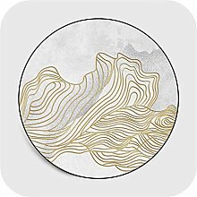 Carpets Korean Round Area Rugs Abstract Golden