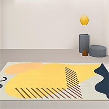 Carpets rugs bedroom Yellow gray modern doodle