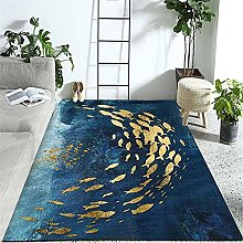 Carpets sofa for living room rug Blue yellow ink