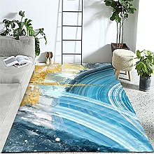Carpets sofa for living room rug Blue yellow white