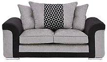 Carrara Fabric 2 Seater Scatter Back Sofa