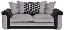 Carrara Fabric 3 Seater Scatter Back Sofa