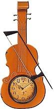 Carrick Design Metal Art Violin Wall Clock,