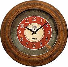 Carrick Design Metal Wall Clock Bronze Round,