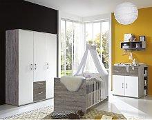 Carrington Cot Bed 3-Piece Nursery Furniture Set