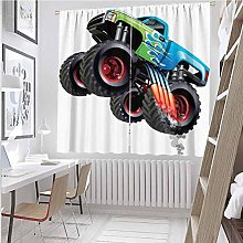 Cars For bedroom blackout curtains Cartoon Monster