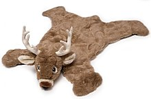 Carstens Plush White Tail Deer Animal Rug, Small