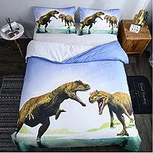 Cartoon Animal Dinosaur Duvet Cover Set, Soft And