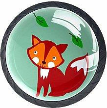 Cartoon Animal Fox Wardrobe Handles Pack of 4 with