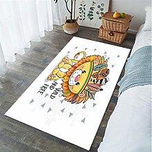 Cartoon Animal Lion Print Carpet Living Room