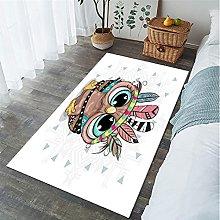 Cartoon Animal Owl Printed Carpet Living Room