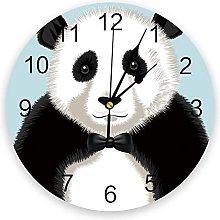 Cartoon Animal PVC Wall Clock, Silent Non-Ticking