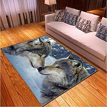 Cartoon Animal Wolf 3D Printing Carpet Family