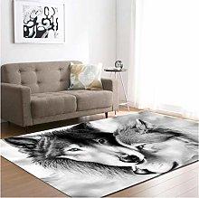 Cartoon Animal Wolf 3D Printing Carpet Living Room
