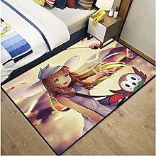 Cartoon Animation Household Rectangular Carpet