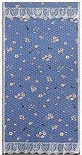 Cartoon Blue Flower Pattern Draft Curtain