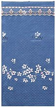 Cartoon Blue Flower Pattern Thermal Door Curtain