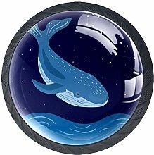 Cartoon Blue Whale Crystal Drawer Handles