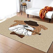 Cartoon Bulldog Carpet for Bedroom Modern Home