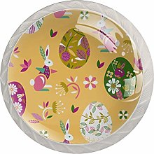 Cartoon Bunny Egg White Crystal Drawer Handles