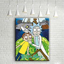 Cartoon Canvas Wall Art Rick and Morty Posters
