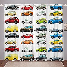 Cartoon Car Curtain for Bedroom Children Sports