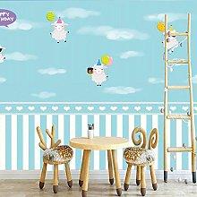 Cartoon Children's Room Mural 3D Little Sheep