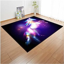 Cartoon Children'S Unicorn 3D Printed Carpet,