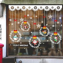 Cartoon Christmas Decoration Glass Sticker