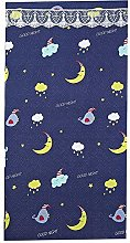 Cartoon Cloud And Moon Pattern Thick Door Curtain
