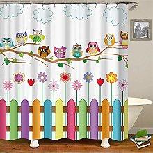 Cartoon Cute Waterproof Shower Curtain Waterproof