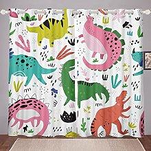 Cartoon Dinosaur Curtain for Bedroom Children Cute