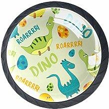 Cartoon Dinosaur Round Knob Metal Cabinet Cupboard