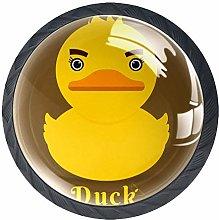 Cartoon Duck Crystal Drawer Handles Furniture