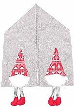 Cartoon Faceless Doll Christmas Table Flag Linen