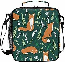 Cartoon Forest Animal Fox Cute Lunch Bag Insulated