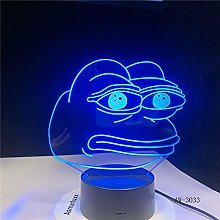 Cartoon Frog Night Light 3D Illusion 7 Color
