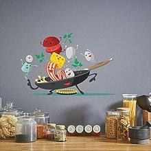 Cartoon Happy Kitchen Wall Sticker for Kitchen