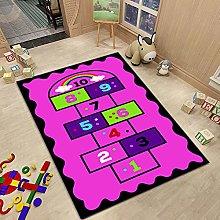 Cartoon Hopscotch Carpet Digital Lattice Home